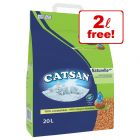 18l Catsan Naturelle Plus Cat Litter + 2l Free!*