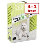 6l Sanicat Zen Clumping Cat Litter - 4 + 1 Free!*