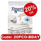12l Tigerino Special Care Cat Litter - White Intense Blue Signal