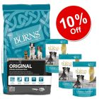 Large Bags Burns Dry Dog Food + 6 x 400g Burns Penlan Farm Mixed Pack - 10% Off!*
