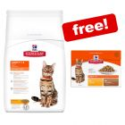 Large Bags Hill's Science Plan Cat Food + 12 x 85g Hill's Pouches Free!*