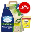 Litière Catsan Natural 8 L + friandises Whiskas ou Catisfaction : 5 % de remise !