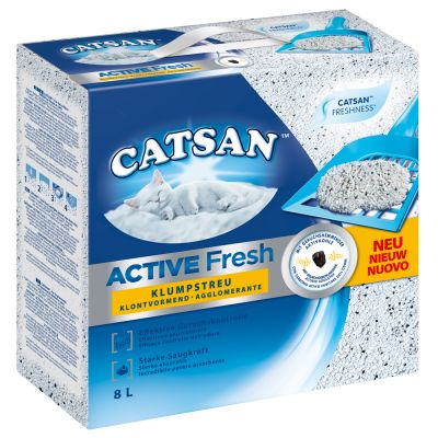 Litiere Agglomerante Catsan Active Fresh Pour Chat Zooplus