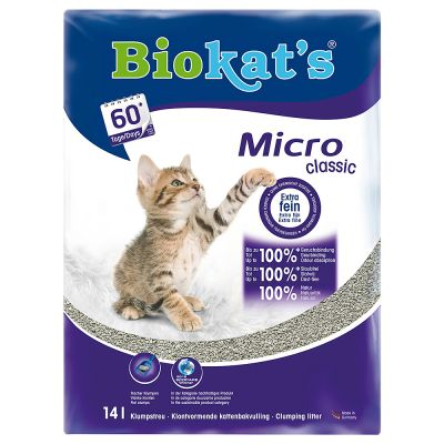 Litiere Biokat S Micro Classic Pour Chat Zooplus