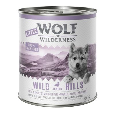 Little Wolf of Wilderness 6 x 800 g pour chiot
