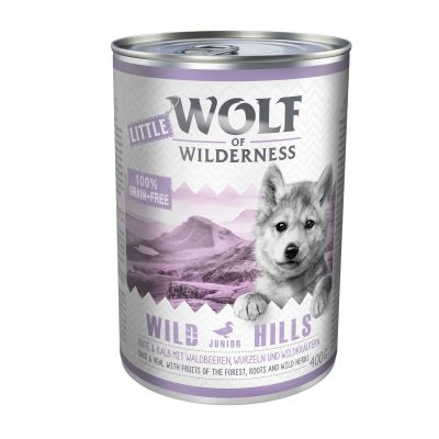Little Wolf of Wilderness 6 x 400 g pour chiot
