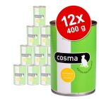 Lot Cosma Original en gelée 12 x 400 g pour chat