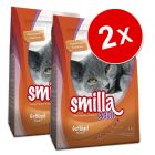 Lot de croquettes pour chat Smilla 2 x 4 kg