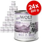 Lot Little Wolf of Wilderness 24 x 800 g pour chiot