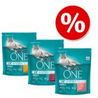 Lot mixte Purina ONE 3 x 800 g pour chat