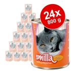 Lot mixte Smilla volaille 24 x 800 g pour chat