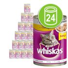 Lot mixte Whiskas Adult 1+ 24 x 400 g pour chat