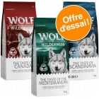 Lot mixte Wolf of Wilderness Adult The Taste Of pour chien