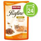 Lot Animonda Rafiné 24 x 100 g pour chat