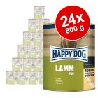 Lot Happy Dog Pur 24 x 800 g pour chien