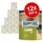 Lot Happy Dog Pur 12 x 800 g pour chien