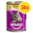 Lot mixte Whiskas Adult 1+ 24 x 400 g