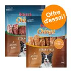Lot mixte Rocco Chings Steak Style pour chien