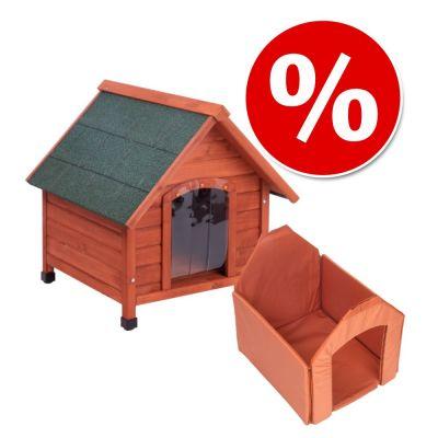Lot niche, isolation et porte pour chien - zooplus 81d55214e583