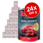 Lot Rocco Real Hearts 24 x 400 g pour chien