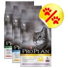 Lot 3 saveurs Purina Pro Plan Sterilised & Light 3 x 1,5 kg