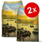 Lot Taste of the Wild 2 x 12 ou 13 kg pour chien