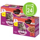 Lot Whiskas 1+ Marmiton 24 x 85 g pour chat