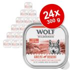 Lot Wolf of Wilderness Adult 24 x 300 g pour chien