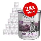 Lot Wolf of Wilderness Senior 24 x 800 g pour chien