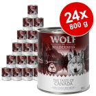 Lot Wolf of Wilderness The Taste Of 24 x 800 g pour chien