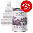 Lot Wolf of Wilderness 12 x 400 g pour chien