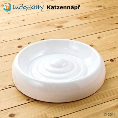 Lucky Kitty Ceramic Cat Bowl