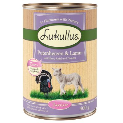 Lukullus Junior Turkey Hearts & Lamb
