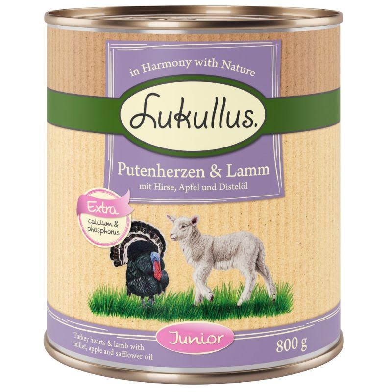 Lukullus Junior Turkey Hearts & Lamb