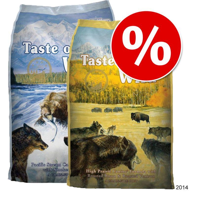 Míchané balení (2 x 6 kg) Taste of the Wild