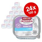 Megapakiet Animonda Integra Protect Adult Diabetes, tacki, 24 x 100 g