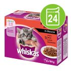 Megapakke Whiskas Junior 24 x 100 g Porsjonsposer