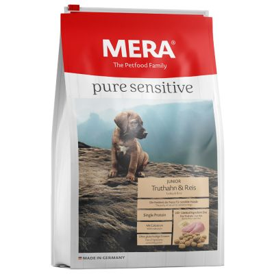 Mera pure sensitive Junior con pavo y arroz para cachorros