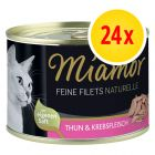Miamor Feine Filets Naturelle 24 x 156 g