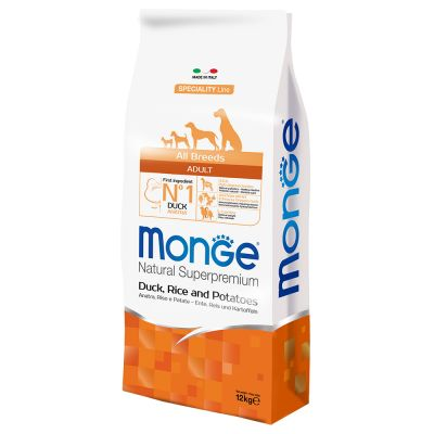 Monge Superpremium All Breeds Adult Anatra, Riso e Patate
