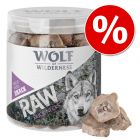 Nå til spesialpris! Wolf of Wilderness Snack - RAW 5 (Miks, frysetørket)