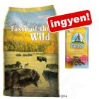 Nagytasakos Taste of the Wild + Barkoo Dental medium snack ingyen!