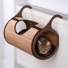 Natural Retreat Radiator Cat Bed - Beige/Brown