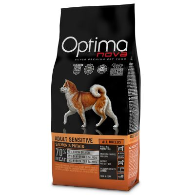 Optimanova Adult Sensitive con salmón y patatas para perros