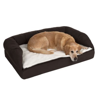 Orthopaedic Dog Bed Brown Beige
