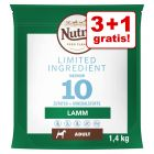 3 + 1 på köpet! 4 x 1,4 kg Nutro Limited Ingredients