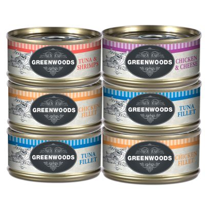 Pacco misto Greenwoods Adult 6 x 70 g