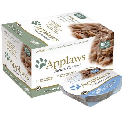 Pachet asortat Applaws Cat Pot 8 x 60 g