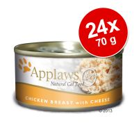 Pachet economic Applaws Adult Conserve în sos 24 x 70 g