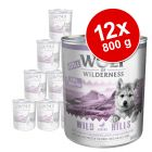 Pachet economic Little Wolf of Wilderness 12 x 800 g